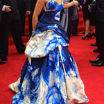 woman wearing dress on red carpet